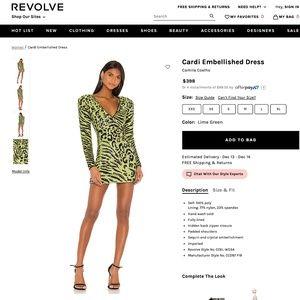 NEW Camila Coelho Cardi Embellished Dress